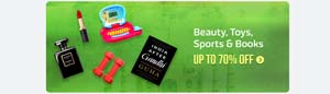 70% off on Beauty, Toys, Sports & Books